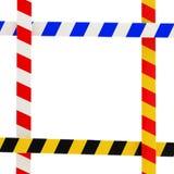 Quatro fitas da barreira que dão forma a um frame lustroso colorido Imagens de Stock Royalty Free