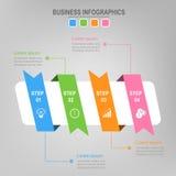 Quatro fitas para o infographics, vetor do conceito do negócio Fotos de Stock Royalty Free