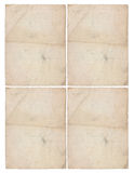 Quatro folhas do papel envelhecido Fotografia de Stock Royalty Free