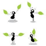Quatro formigas que dirrecting o tráfego ilustração do vetor