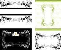 Quatro frames decorativos para o projeto Foto de Stock