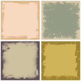 Quatro frames do grunge Imagens de Stock Royalty Free
