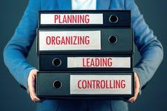 Quatro funções básicas do processo da gestão no organizat do negócio imagens de stock