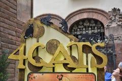 Quatro gats i Barcelona Arkivfoton