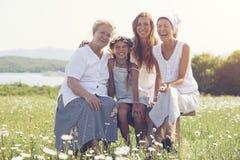 Quatro gerações fotografia de stock royalty free