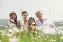 Quatro gerações imagens de stock royalty free