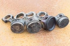 Quatro hastes e pistões Foto de Stock