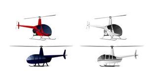 Quatro helicópteros ajustados Fotos de Stock Royalty Free