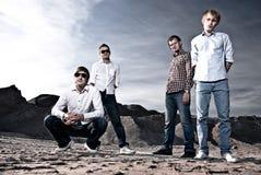 Quatro homens ao ar livre fotografia de stock royalty free