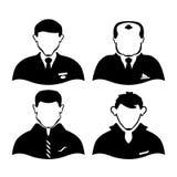 quatro homens de profissões diferentes Foto de Stock