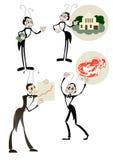 Quatro imagens de uma formiga - gerente Imagem de Stock Royalty Free