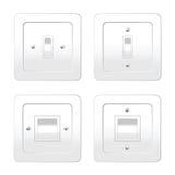 Quatro interruptores para a ilustração clara do vetor Foto de Stock