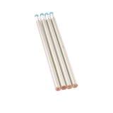 Quatro lápis de prata isolados no branco Imagem de Stock