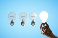 Quatro lâmpadas Fotos de Stock Royalty Free
