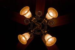 Quatro luzes no ventilador Fotos de Stock Royalty Free