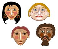 Quatro máscaras Imagem de Stock Royalty Free
