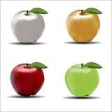 Quatro maçãs Imagens de Stock