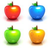 Quatro maçãs coloridas ilustração royalty free