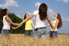 Quatro meninas Fotos de Stock