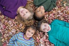 Quatro meninas Imagens de Stock