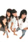 Quatro meninas asiáticas imagens de stock