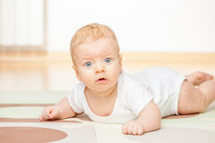 Quatro meses de bebê idoso Foto de Stock Royalty Free