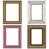 Quatro molduras para retrato Fotografia de Stock Royalty Free