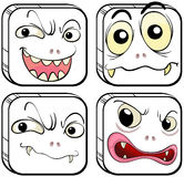 Quatro monstro assustadores Fotos de Stock Royalty Free