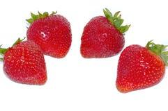 Quatro morangos Imagem de Stock Royalty Free