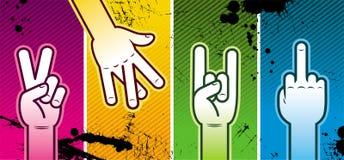 Quatro mãos Fotografia de Stock Royalty Free