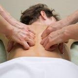 Massagem de quatro mãos Foto de Stock
