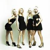Quatro mulheres bonitas foto de stock royalty free