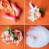 Quatro objetos do casamento Foto de Stock