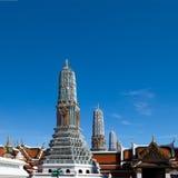 Quatro oito da telha Chedis em Wat Phra Kaew Imagens de Stock Royalty Free
