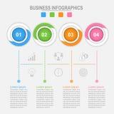 Quatro opções de infographic, processo da conexão, vetor do conceito do negócio Foto de Stock