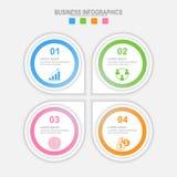 Quatro opções infographic, molde para seu projeto, vetor do conceito do negócio Imagens de Stock Royalty Free