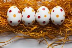 Quatro ovos da páscoa modelados Fotos de Stock Royalty Free