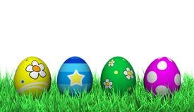 Decoração dos ovos da páscoa Fotografia de Stock