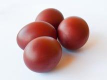 Quatro ovos da páscoa Imagens de Stock