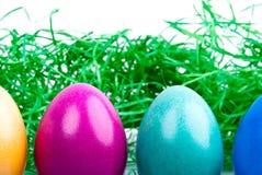 Quatro ovos de Easter coloridos V3 Fotos de Stock