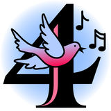 Quatro pássaros de chamada/eps Foto de Stock Royalty Free
