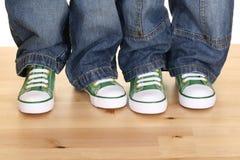 Quatro pés Fotografia de Stock