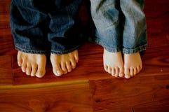 Quatro pés Fotos de Stock