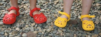 Quatro pés pequenos Imagem de Stock Royalty Free