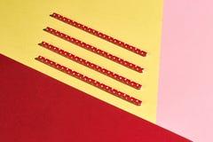Quatro palhas ecológicas plásticas do vintage imagem de stock royalty free