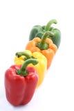 Quatro paprika no fundo branco fotos de stock royalty free