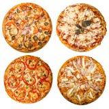 Quatro pizzas Imagem de Stock Royalty Free