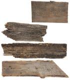 Quatro placas de madeira velhas.  Prancha de madeira, Imagens de Stock