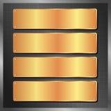 Placas douradas Fotografia de Stock