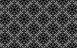 Quatro preto e branco tomaram partido teste padrão da mandala ilustração stock